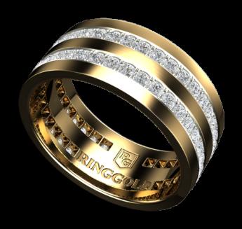 Кольцо Simmetry R0013_13 с белыми бриллиантами и ажуром